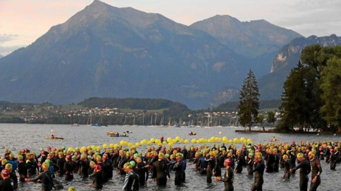 Inferno Triathlon Mürren 2016 Schwimmen