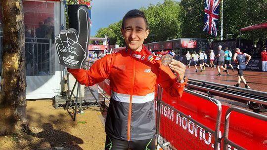 Jonas Müller beim London-Marathon 2021
