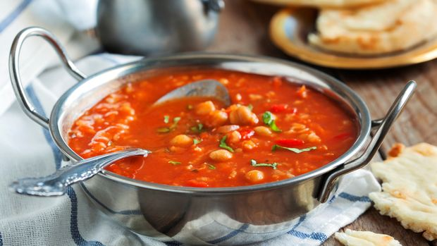 Kichererbsen-Tomaten-Suppe