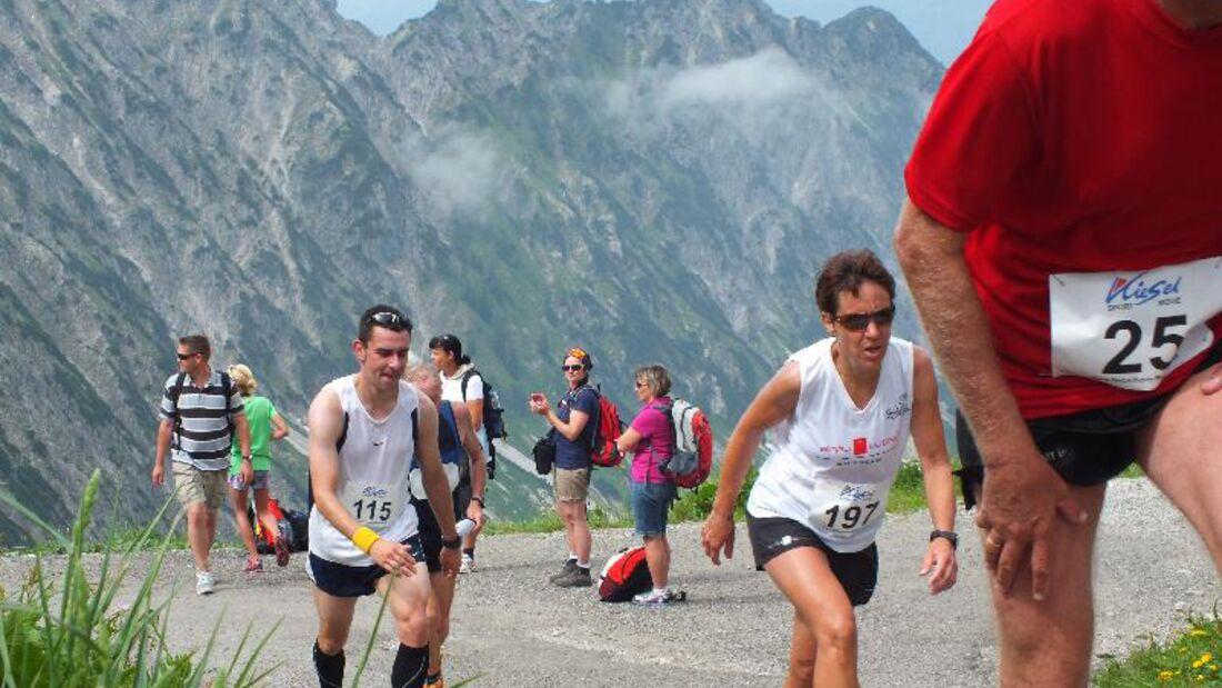 Knackige Anstiege beim Nebelhorn-Berglauf in Oberstdorf