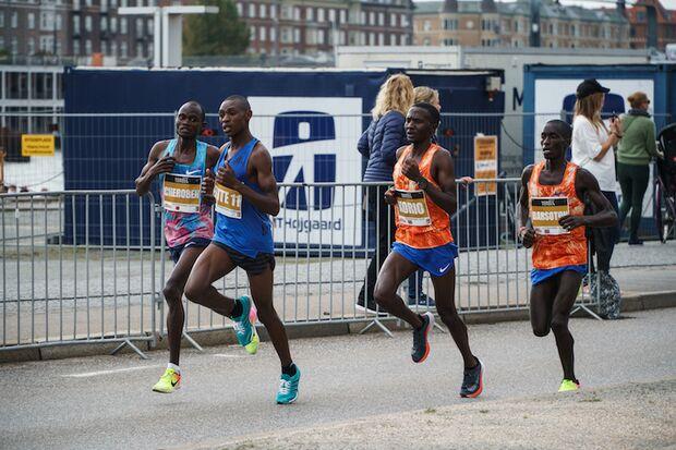 Kopenhagen-Halbmarathon 2017 Abraham Cheroben, Jorum Okombo und Alex Koro