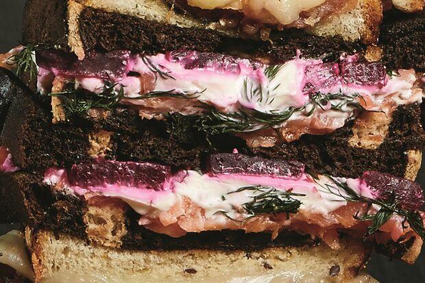 Lachs-Rote Beete Sandwich Rezept Bild
