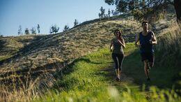 Läufer in der Natur