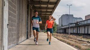 Läufer und Läuferin