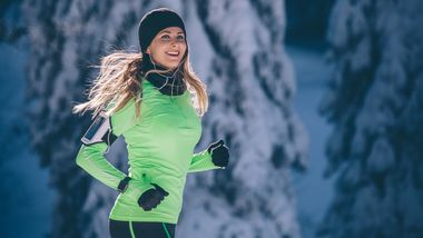 Läuferin im Winter