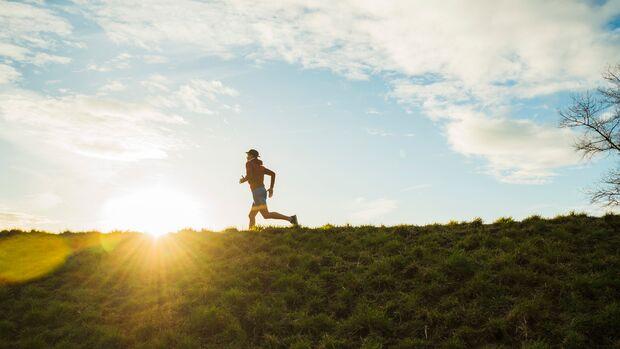 Laufen auf Wiese