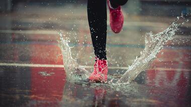Laufen bei Regen