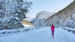 Laufen im Winter kann ein sehr schönes Erlebnis sein.