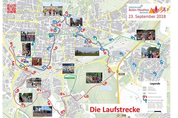 Laufstrecke Baden-Marathon