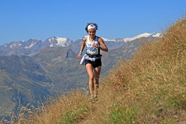 Maddalene Sky Marathon: Bergläuferin nach der Binagia Alm