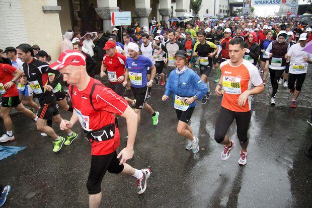 Marathon im Dreiländereck Start