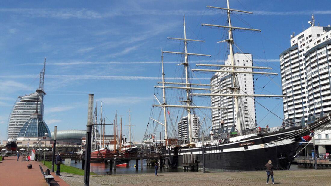 Maritime Kulisse in Bremerhaven