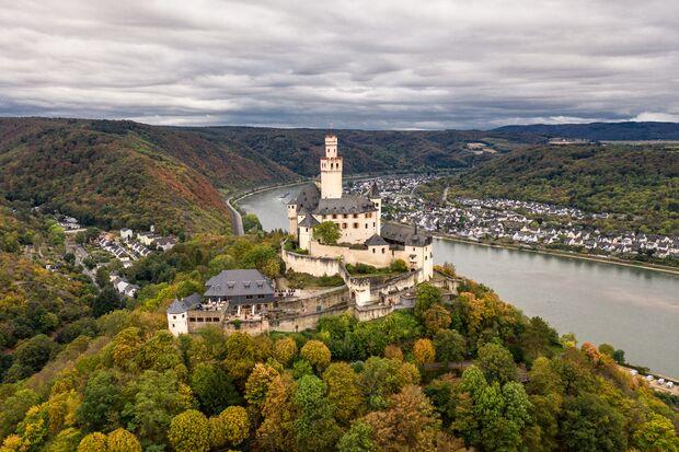 Marksburg,Castle,In,The,Rhine,Valley,,Germany