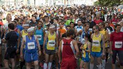 Mitteldeutscher Marathon Halle Startaufstellung