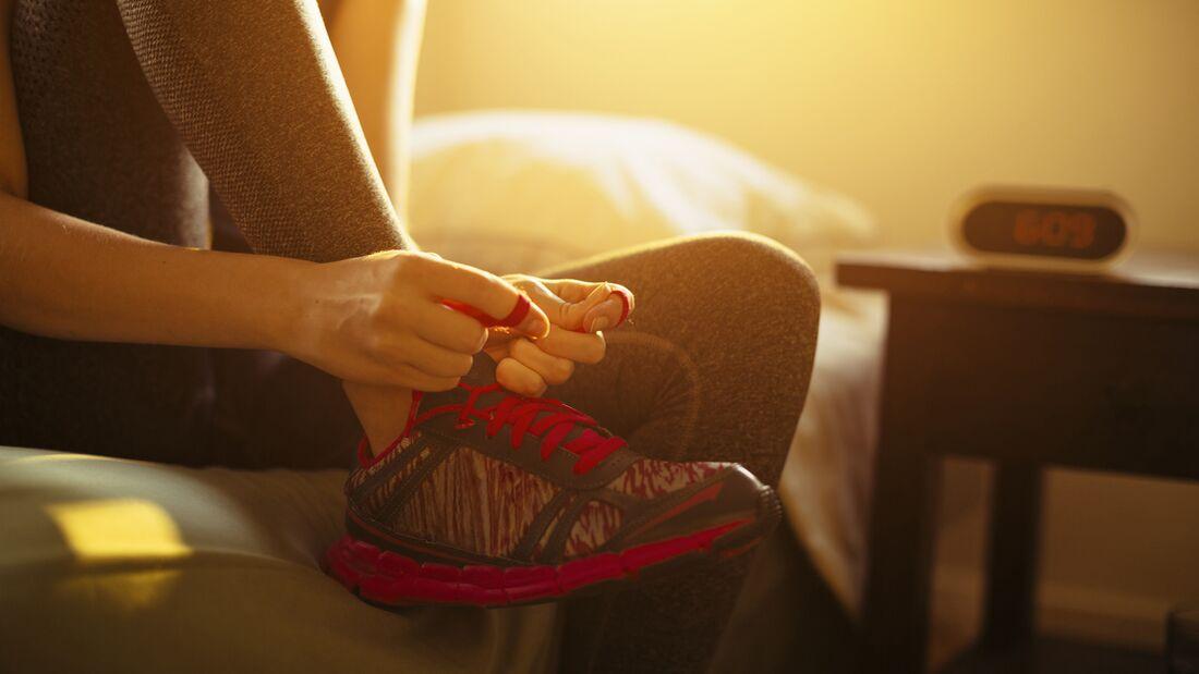 Morgens laufen