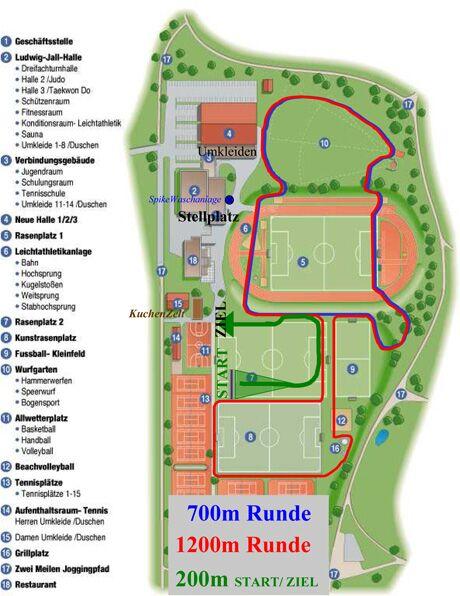 Münchner Stadion-Cross – Streckenplan