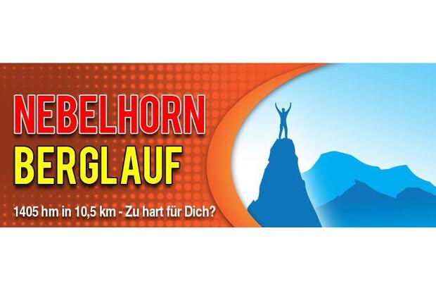 Nebelhorn-Berglauf in Oberstdorf Logo
