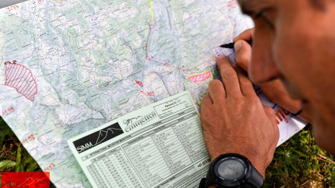 Orientierungssinn ist gefragt beim Swiss International Mountain Marathon.
