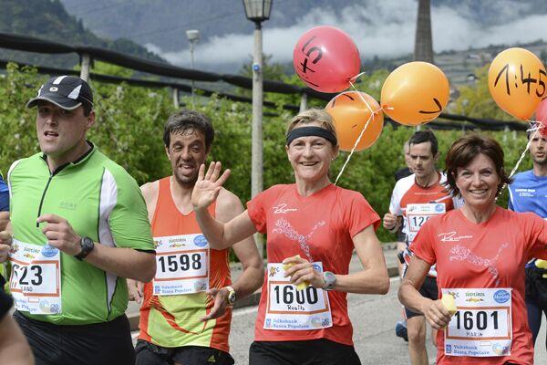 Pacemakerinnen beim Südtiroler Frühlings-Halbmarathon Meran-Algund