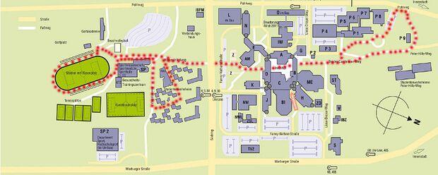 Paderborner Campuslauf Karte