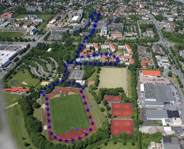Paderborner Campuslauf Luftbild