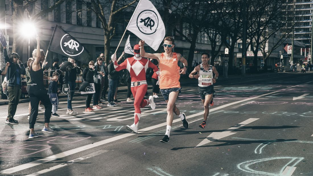 Philipp Pflieger beim Berliner Halbmarathon 2018.