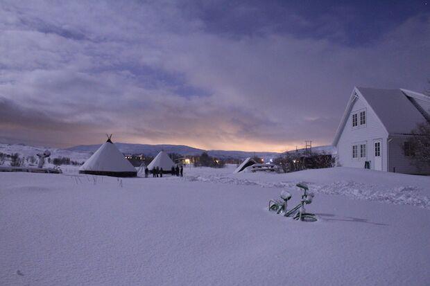 Polar Night Halbmarathon 2018 Schnee