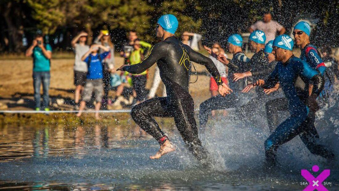 Punta Skala Triathlon Zadar 2018 Schwimmen