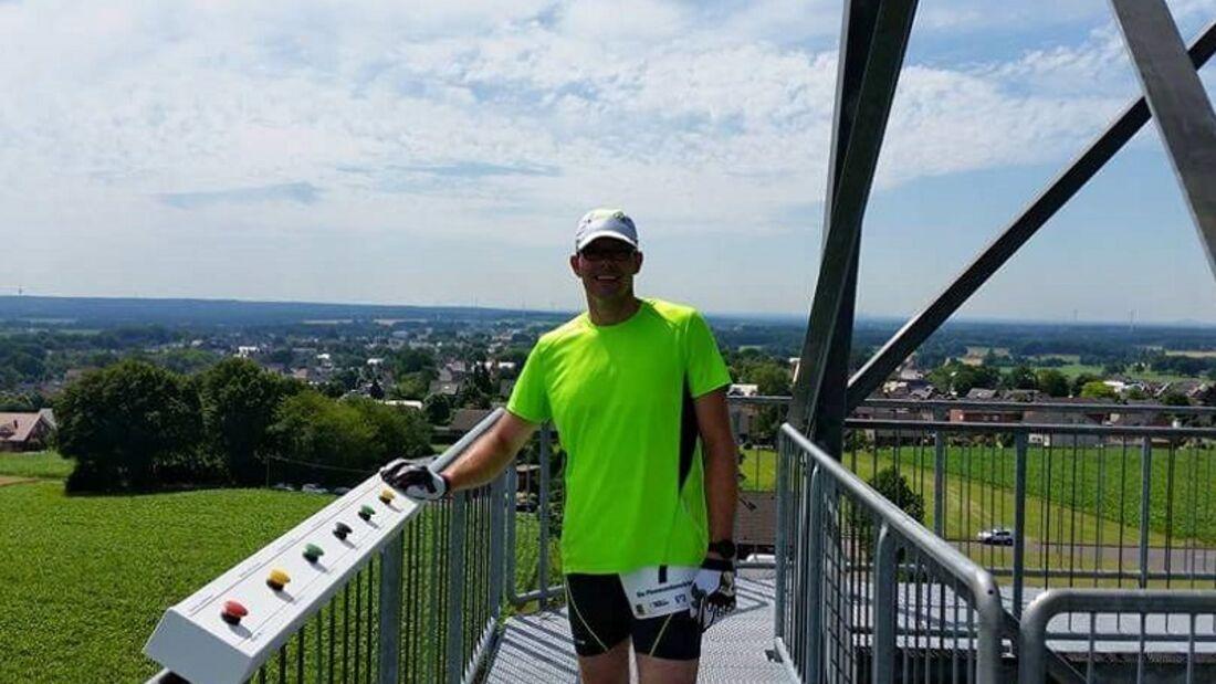 Rekener Tower Run: Auf dem Funkturm Melchenberg in Groß Reken