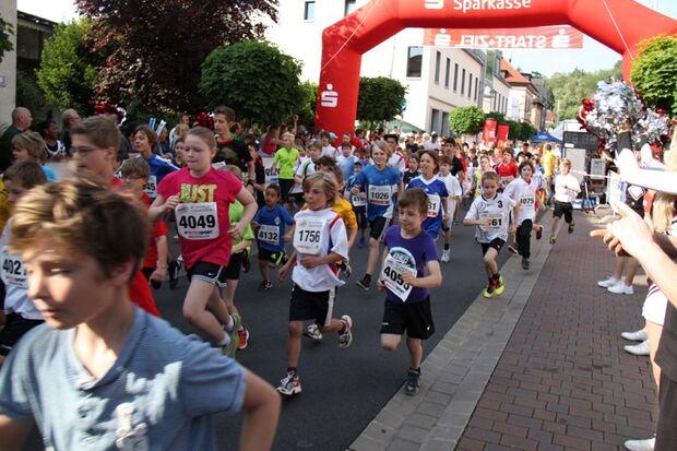 Römerlauf Obernburg: Start der Schüler