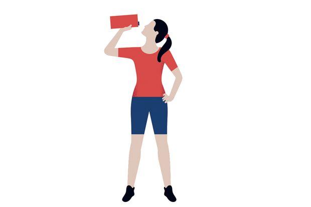 Rote-Beete-Saft trinken