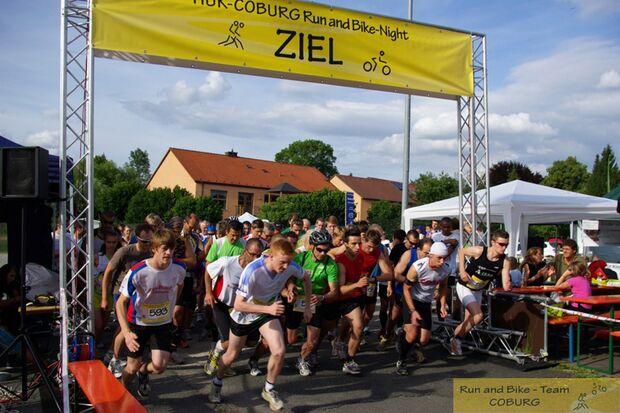 Run-and-Bike-Night Coburg Start Hauptlauf