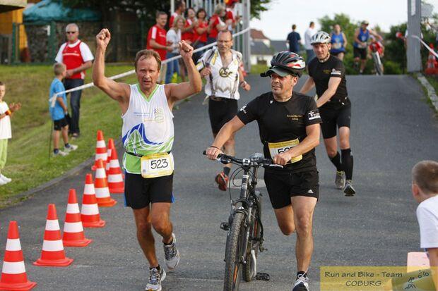 Run-and-Bike-Night Coburg Zieleinlauf