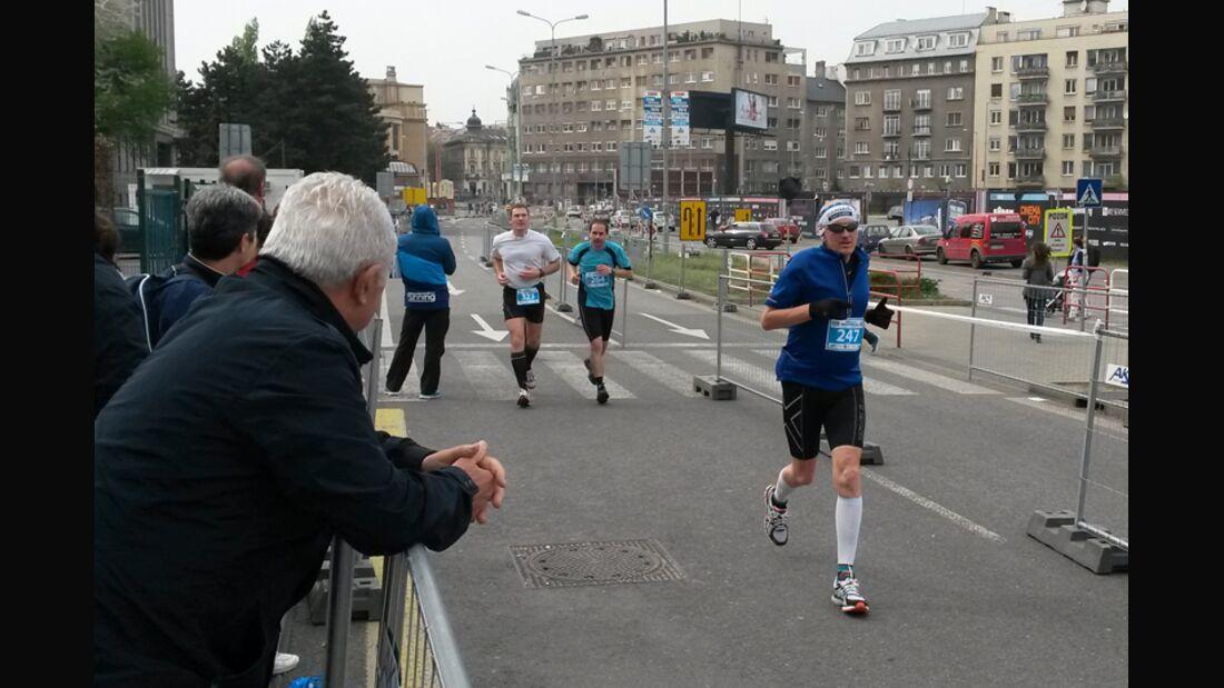 Schlussspurt beim Bratislava-Marathon