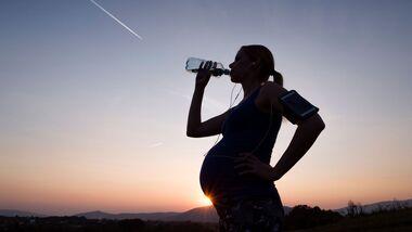 Schwangere Läuferin