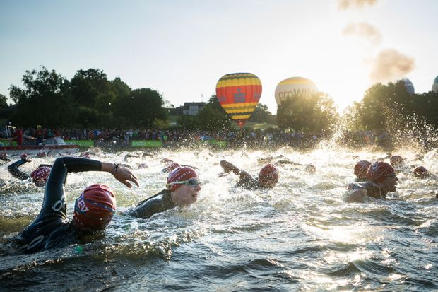Schwimmfeld Challenge Roth 2015