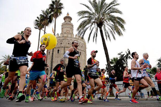 Sevilla-Marathon Läufer 2018