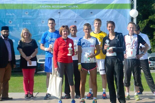 Siegerehrung beim Charity Walk & Run in Groß-Gerau