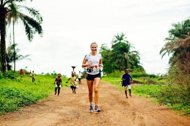 Sierra Leone Marathon 2016 Läuferin