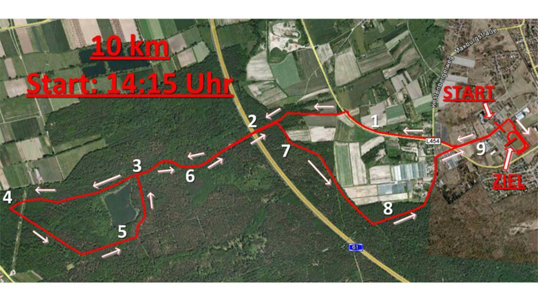 Silvesterlauf Schifferstadt 10 km Strecke