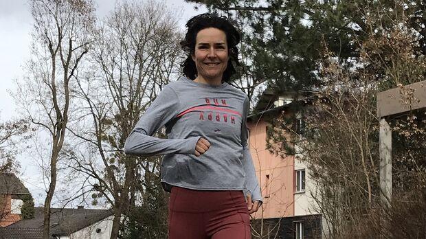 Sonja von Opel beim Lauftraining