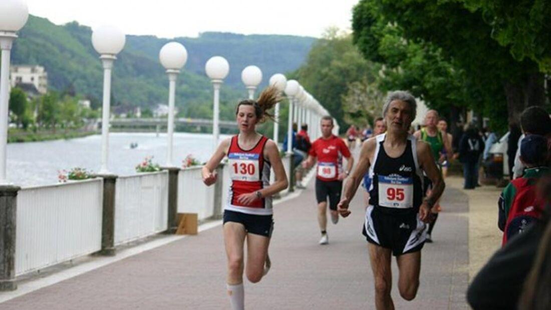 Stadtlauf Bad Ems: Durch den Kurpark an der Lahn