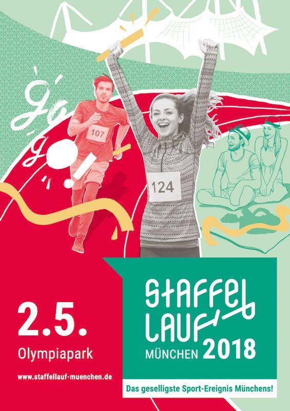 Staffellauf München Poster 2018
