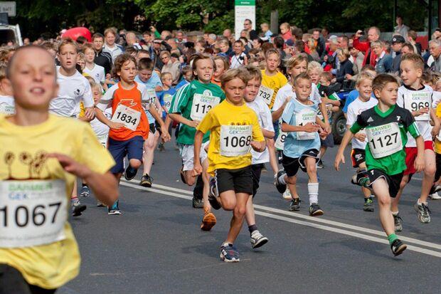 Start der Bambini beim Eberswalder Stadtlauf