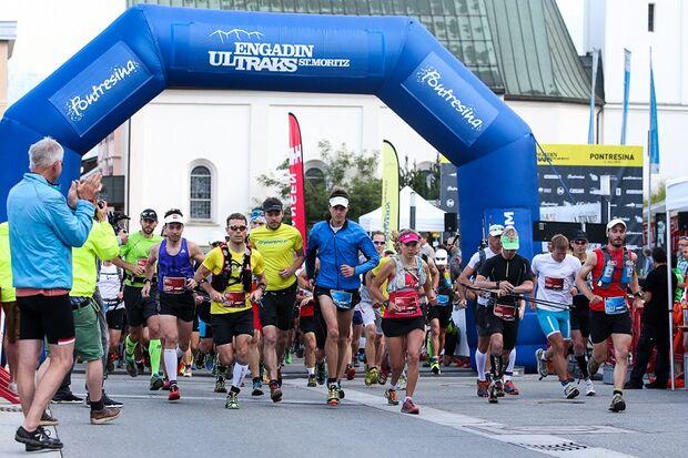 Start zu den Engadin St. Moritz Ultraks