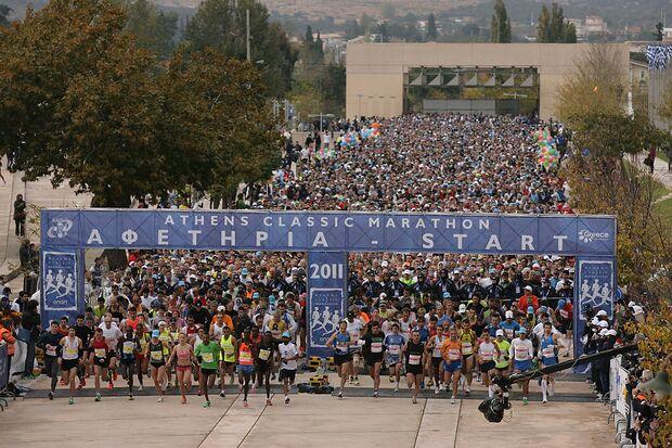 Start zum Athen-Marathon