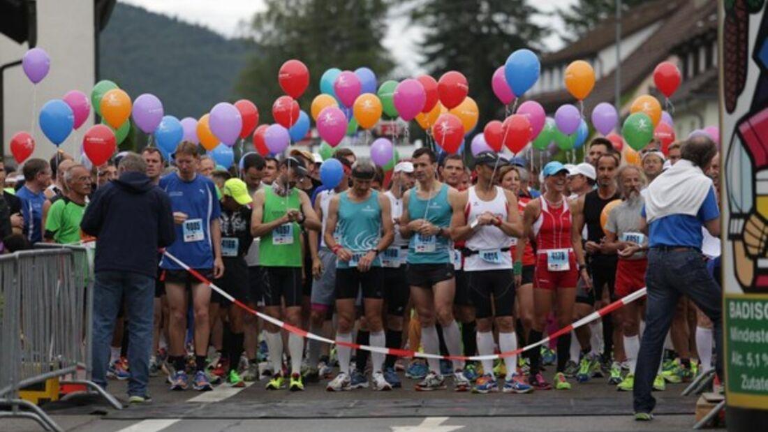 Start zum Donautal-Marathon in Tuttlingen