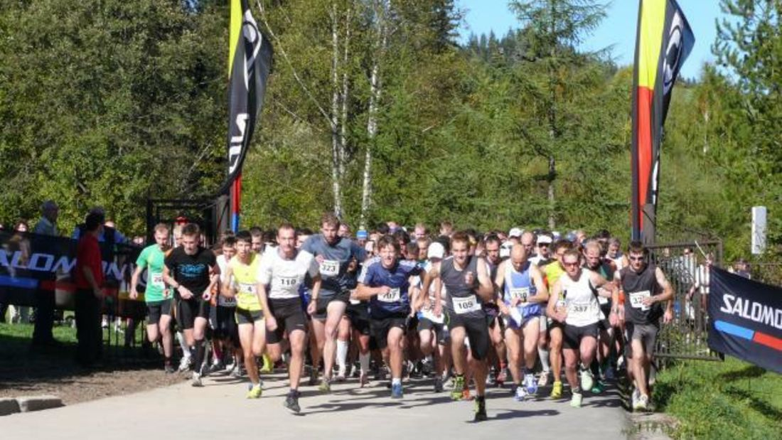 Start zum Fichtelberglauf in Sehmatal-Neudorf