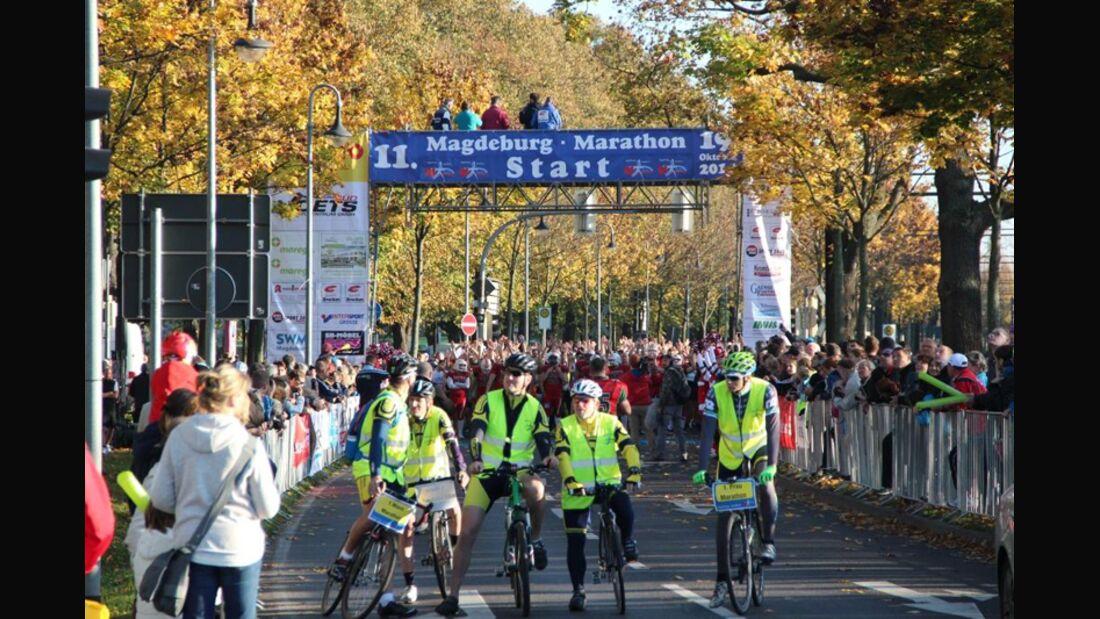 Start zum Magdeburg-Marathon
