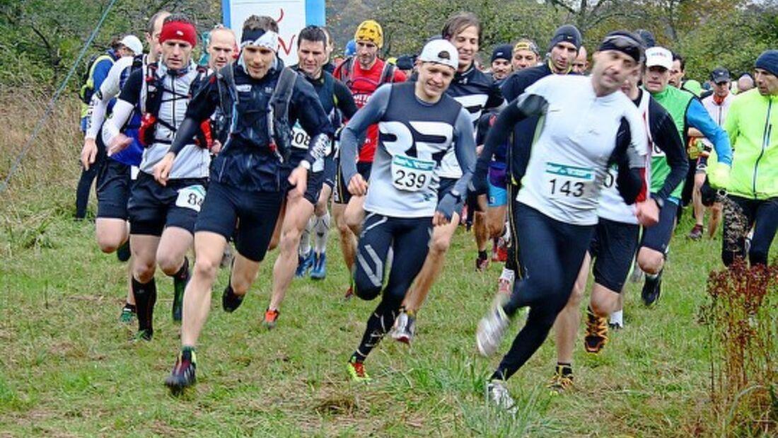 Start zum Platinman-Berglauf in Hennef